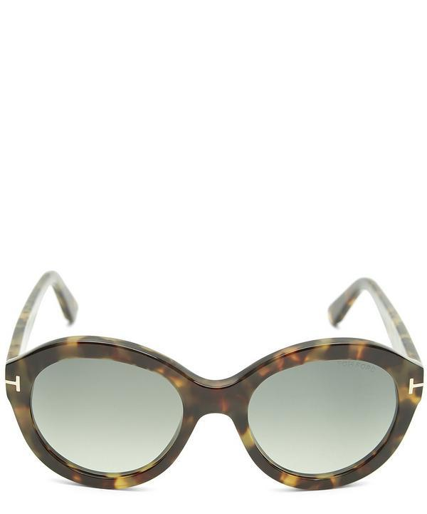Tom Ford Round Tortoiseshell Sunglasses In Brown
