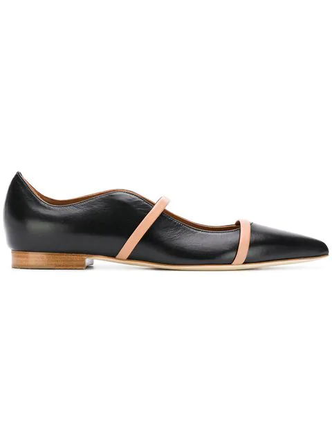 Malone Souliers Maureen Flat Ballerina Shoes In Black