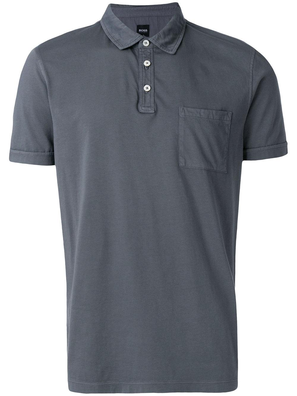 f9c309b2 Boss Hugo Boss Patch Pocket Polo Shirt - Grey | ModeSens
