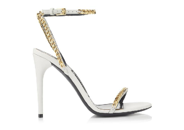 Tom Ford Chain Strap Sandals In White