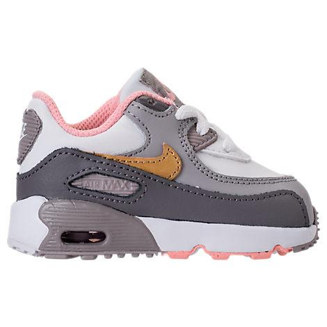 huge selection of 13eb1 d4395 Made for your on-the-go little girl, the Girls  Toddler Nike Air Max 90  Leather Casual shoes keep her supported and stylish as she plays.