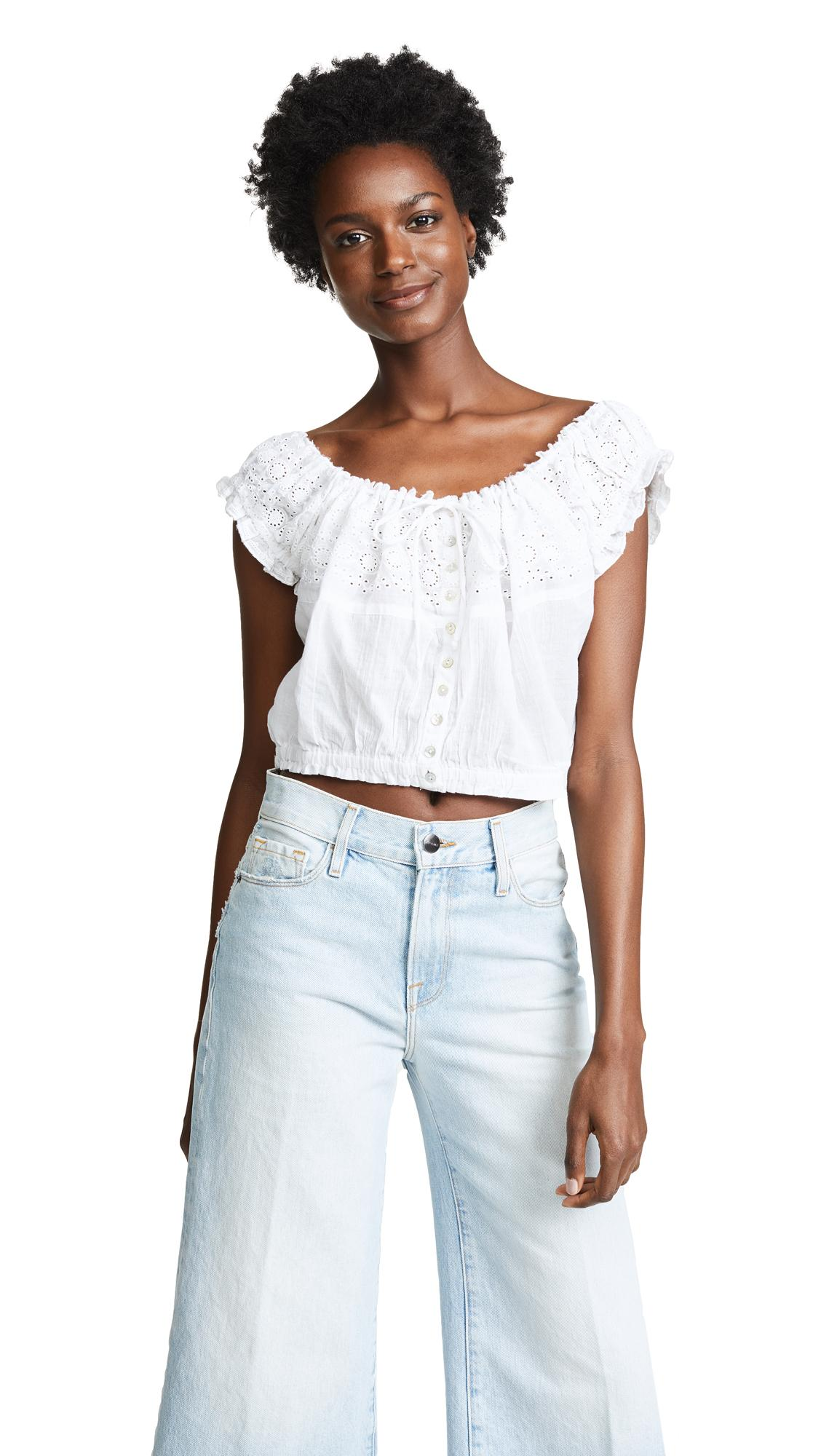 8dd0095d91488 Eyelet You A Lot Top in White