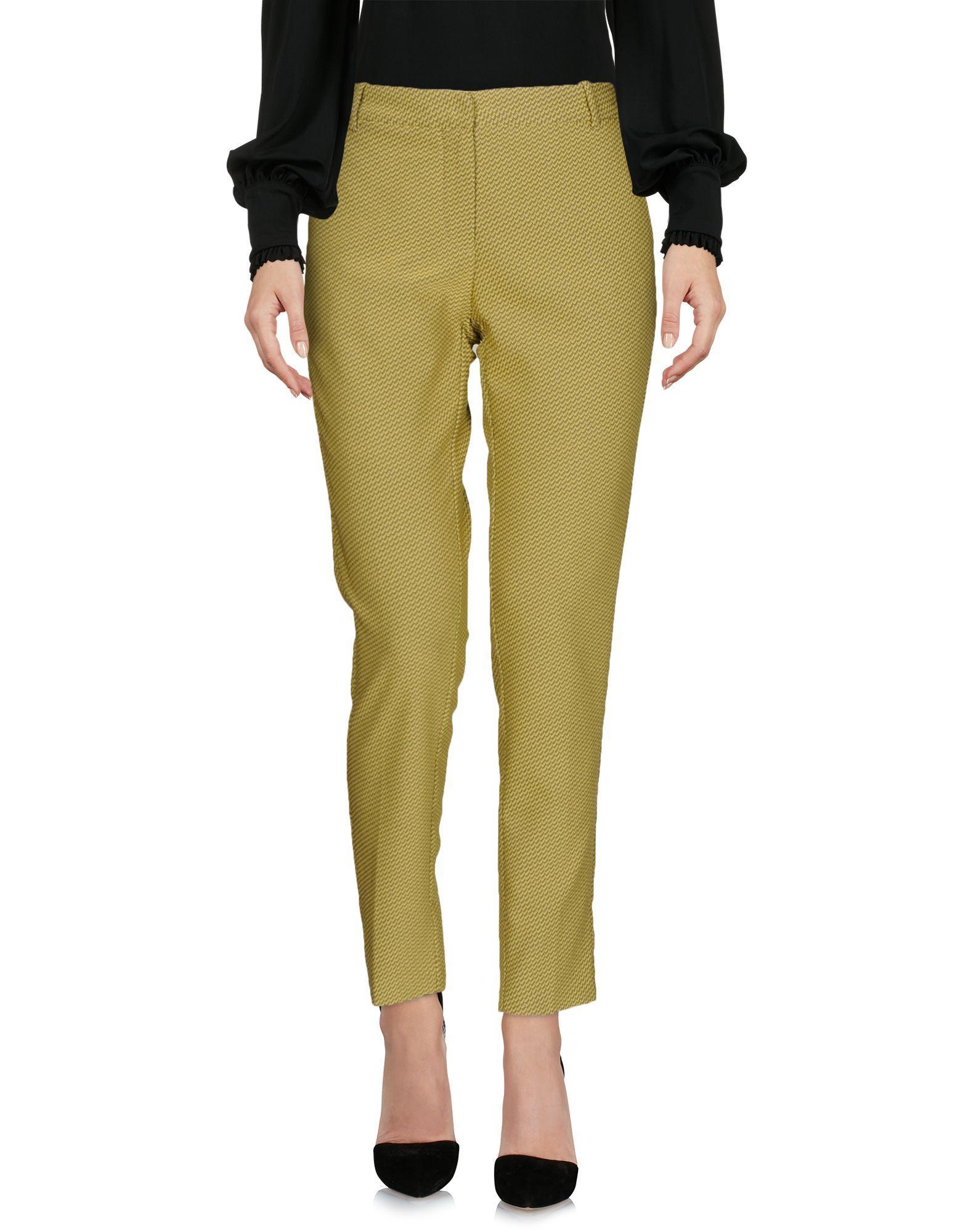 Teresa Dainelli Casual Pants In Acid Green