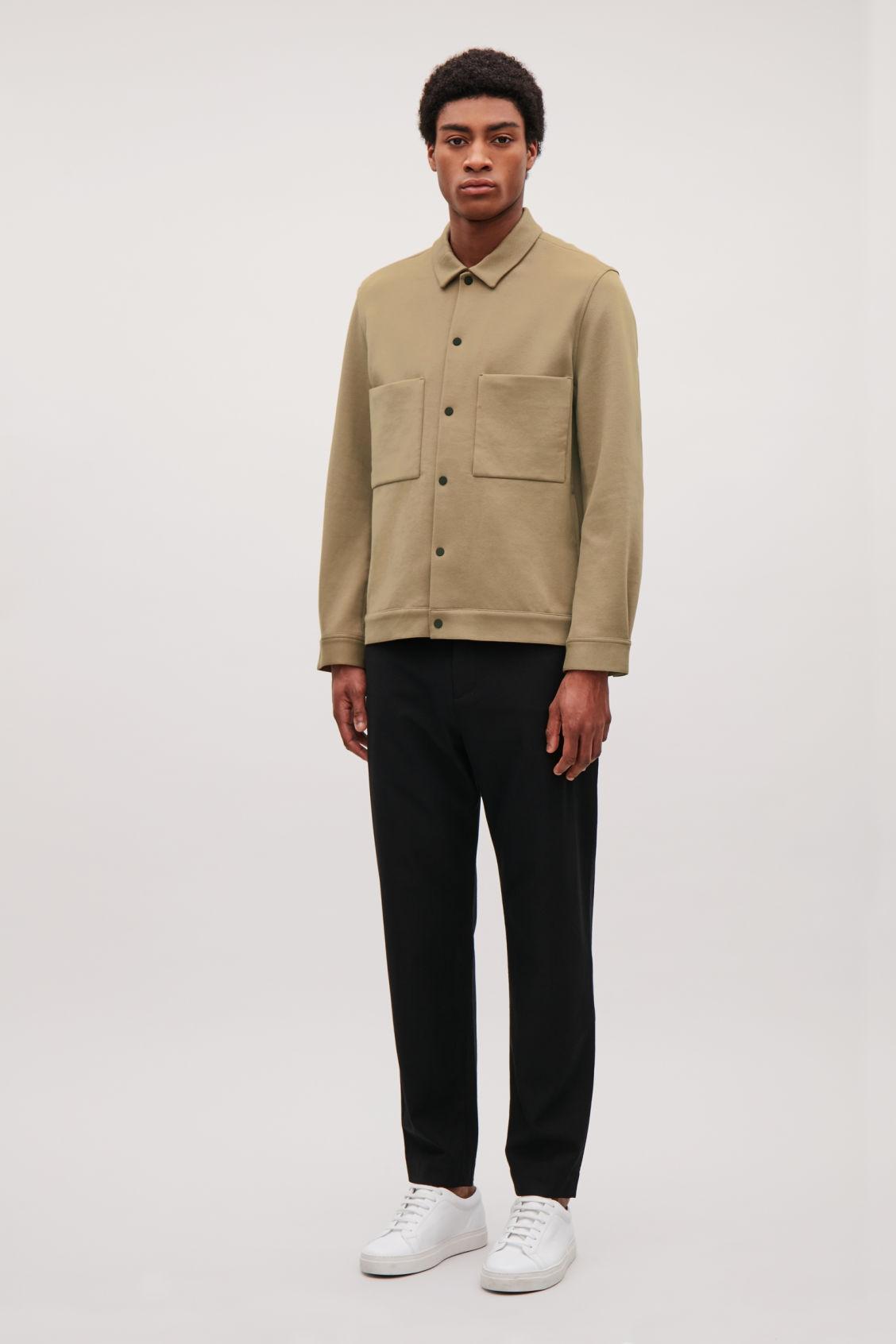 daa18189f Cotton-Twill Shirt Jacket - Beige