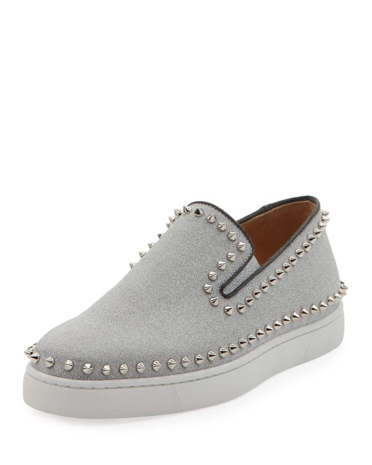 2e7193403a63 Christian Louboutin Men s Pik Boat Leather Slip-On Sneakers In ...