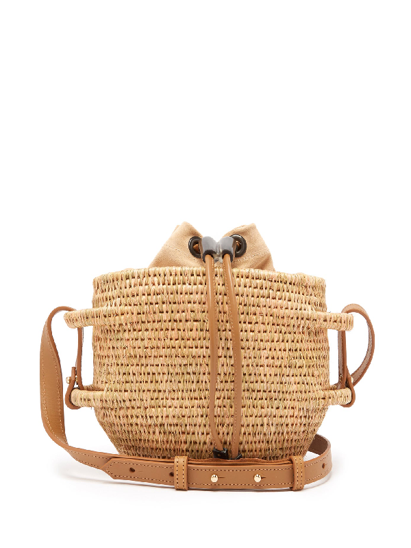 Khokho Thembi Drawstring-top Basket Bag In Light Tan