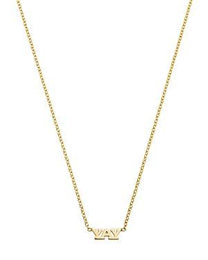 ZoË Chicco 14K Yellow Gold Tiny Yay Pendant Necklace, 16