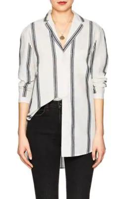 122225aa9 Rag And Bone Off-White And Navy Alyse Striped Shirt in Ivorybone