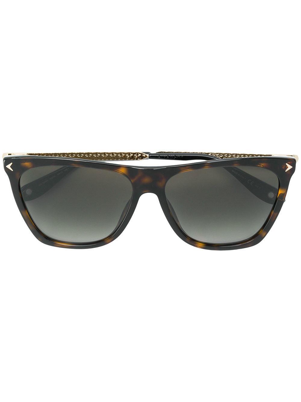 77e958e6805b Givenchy Eyewear Square Sunglasses - Brown   ModeSens