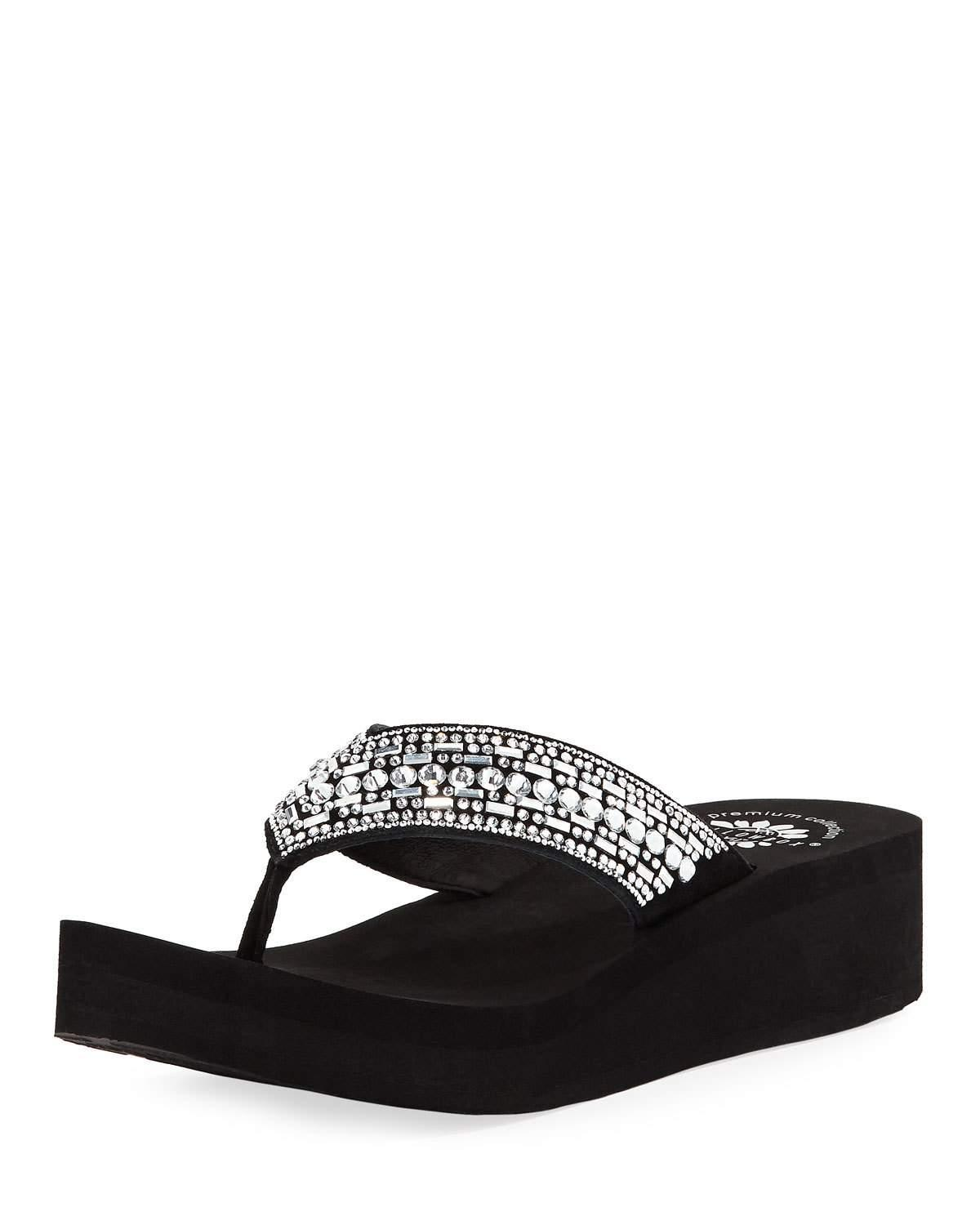 587ee8f28 Premium Collection By Yellow Box Janiya Embellished Platform Sandal In Black