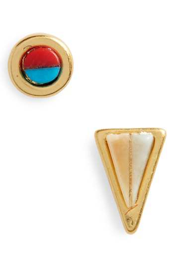d083fd2e2 Madewell Delicate Mismatched Stud Earrings In Vintage Gold | ModeSens