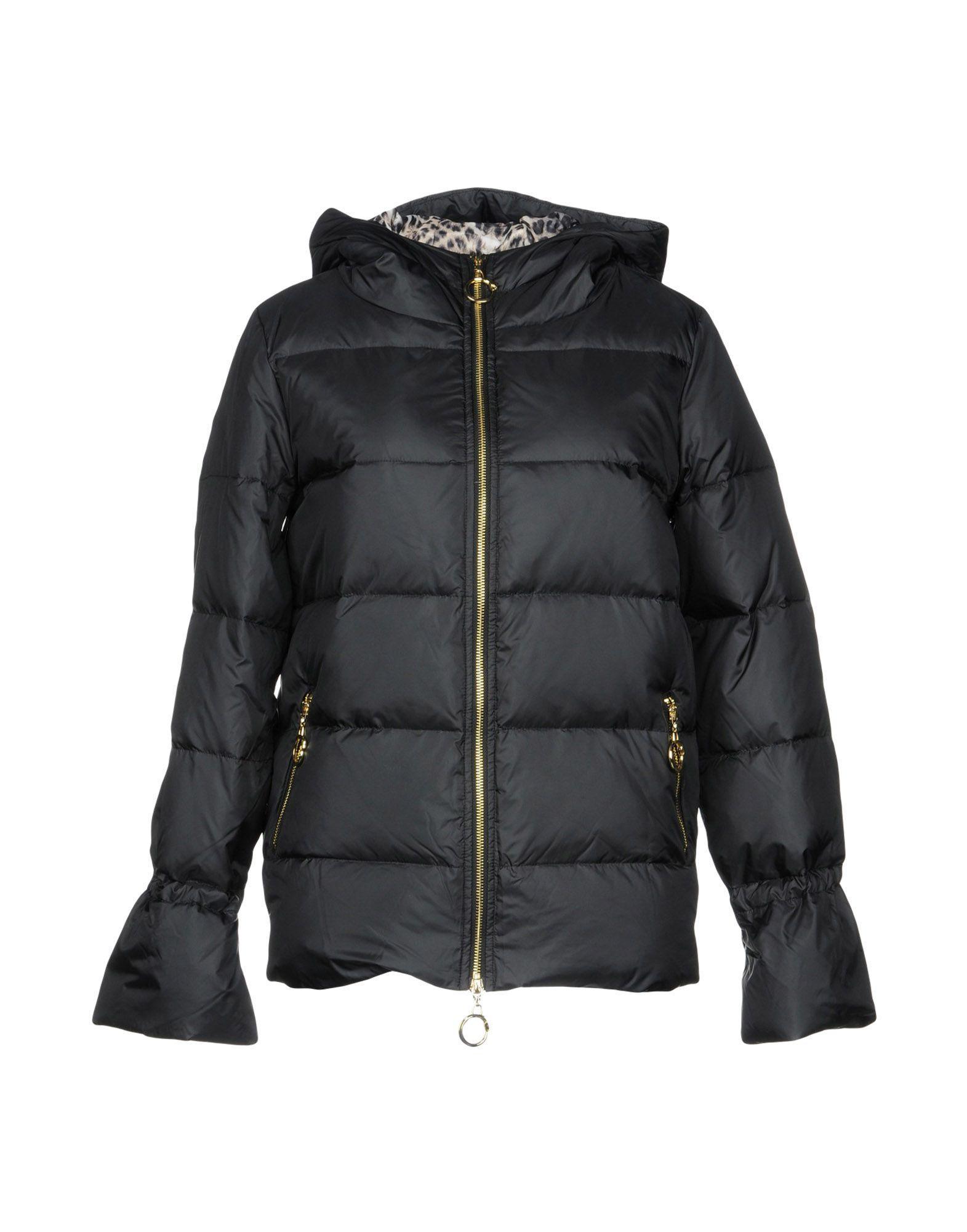 Class Roberto Cavalli Down Jacket In Black