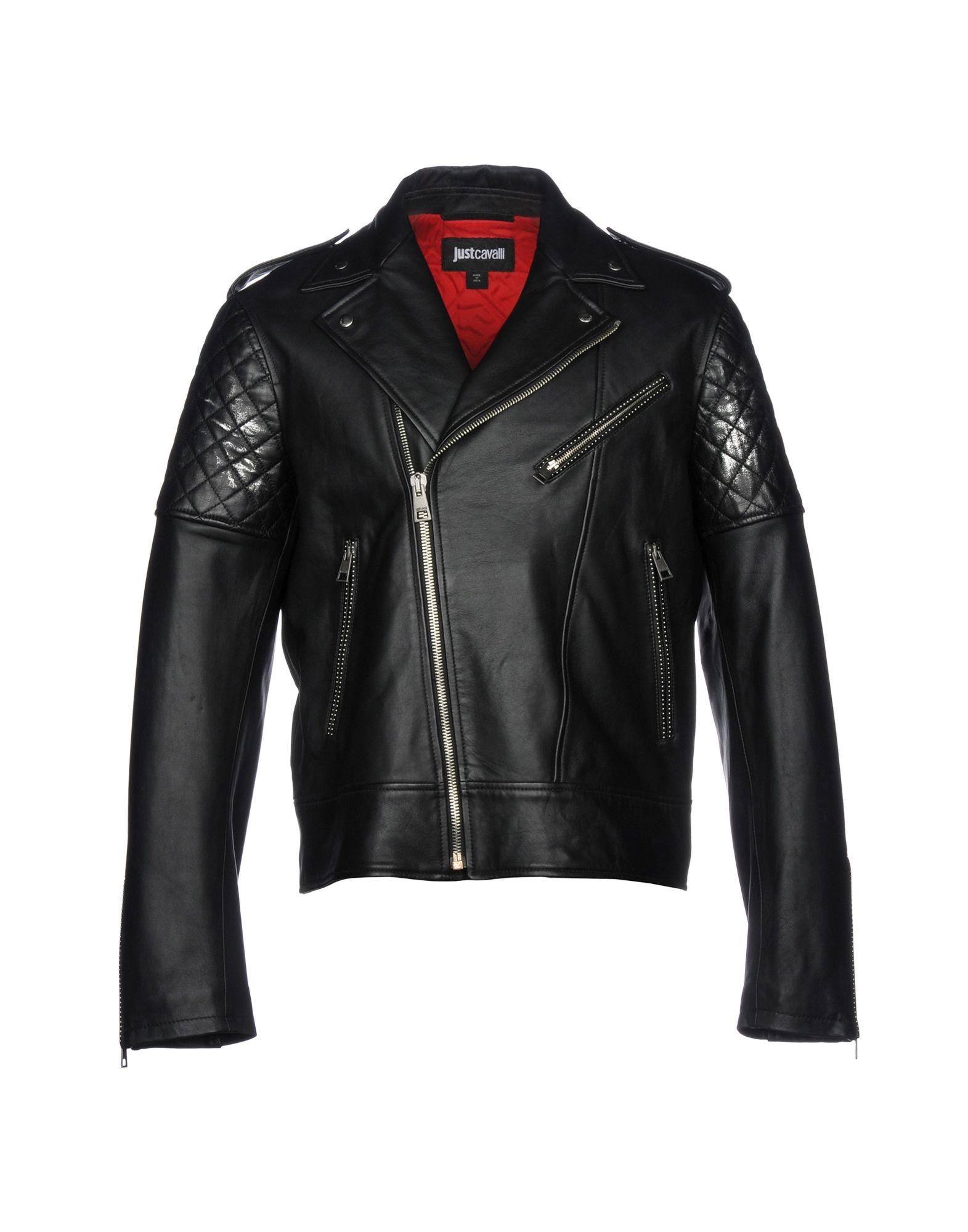 Just Cavalli Biker Jacket In Black