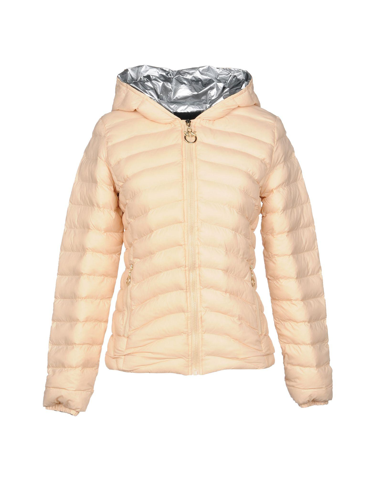 Pinko Synthetic Down Jackets In Light Pink