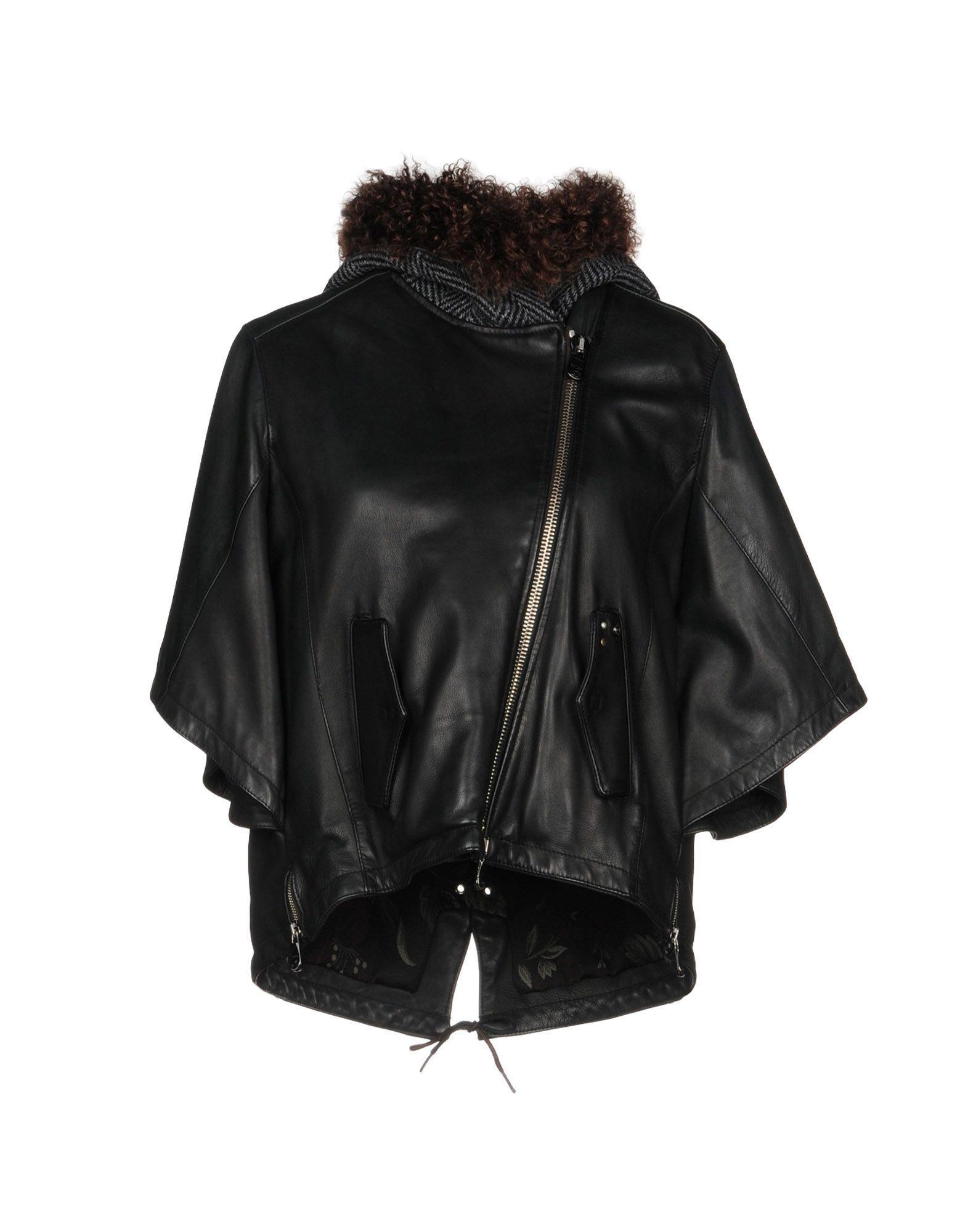 Delan Biker Jacket In Black