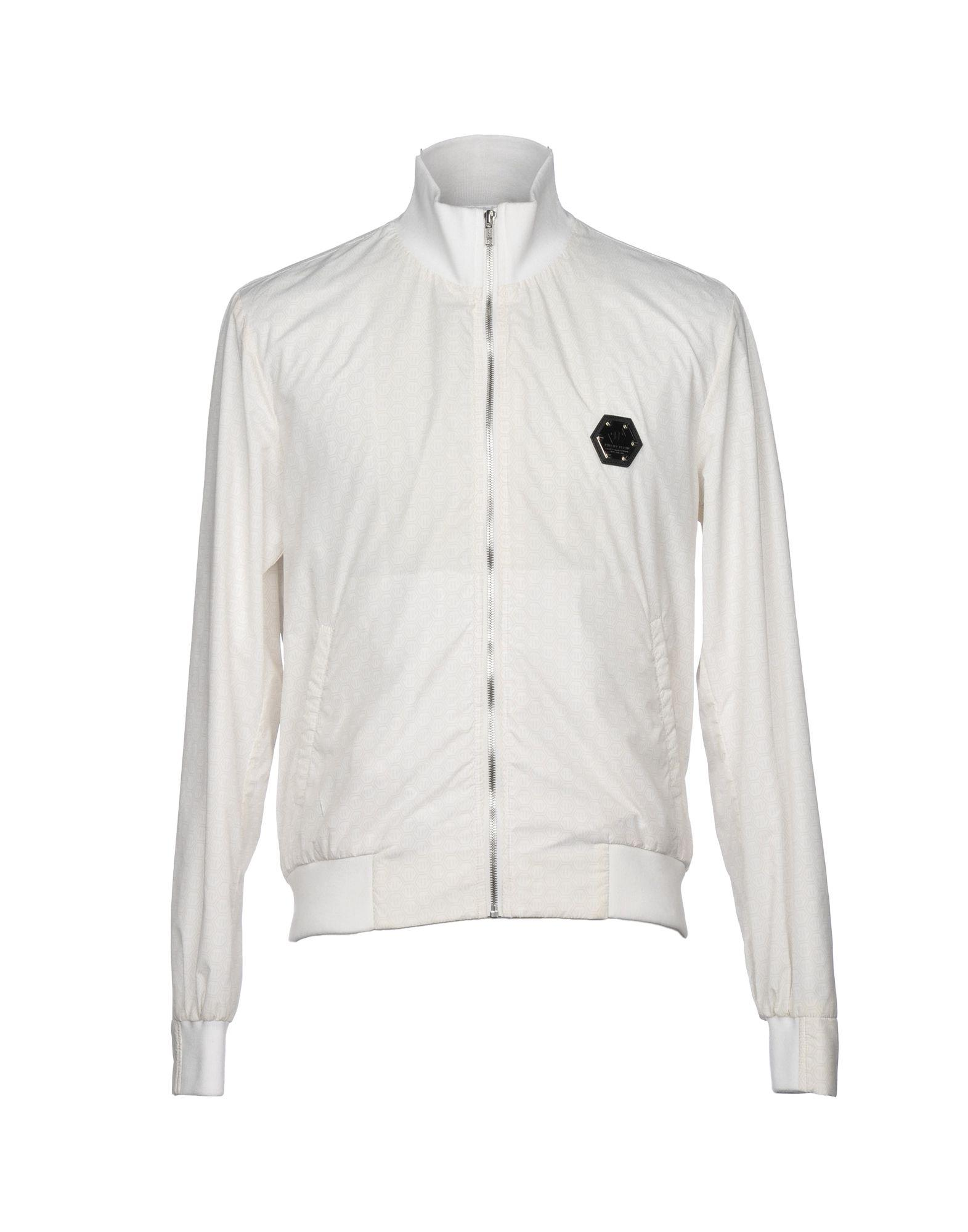 Philipp Plein Jackets In Ivory