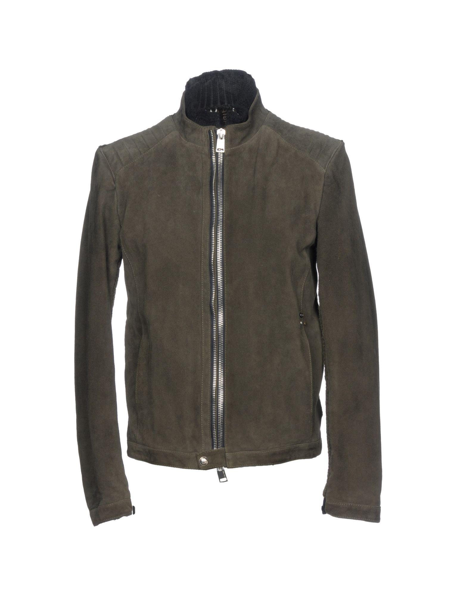 Delan Biker Jacket In Military Green