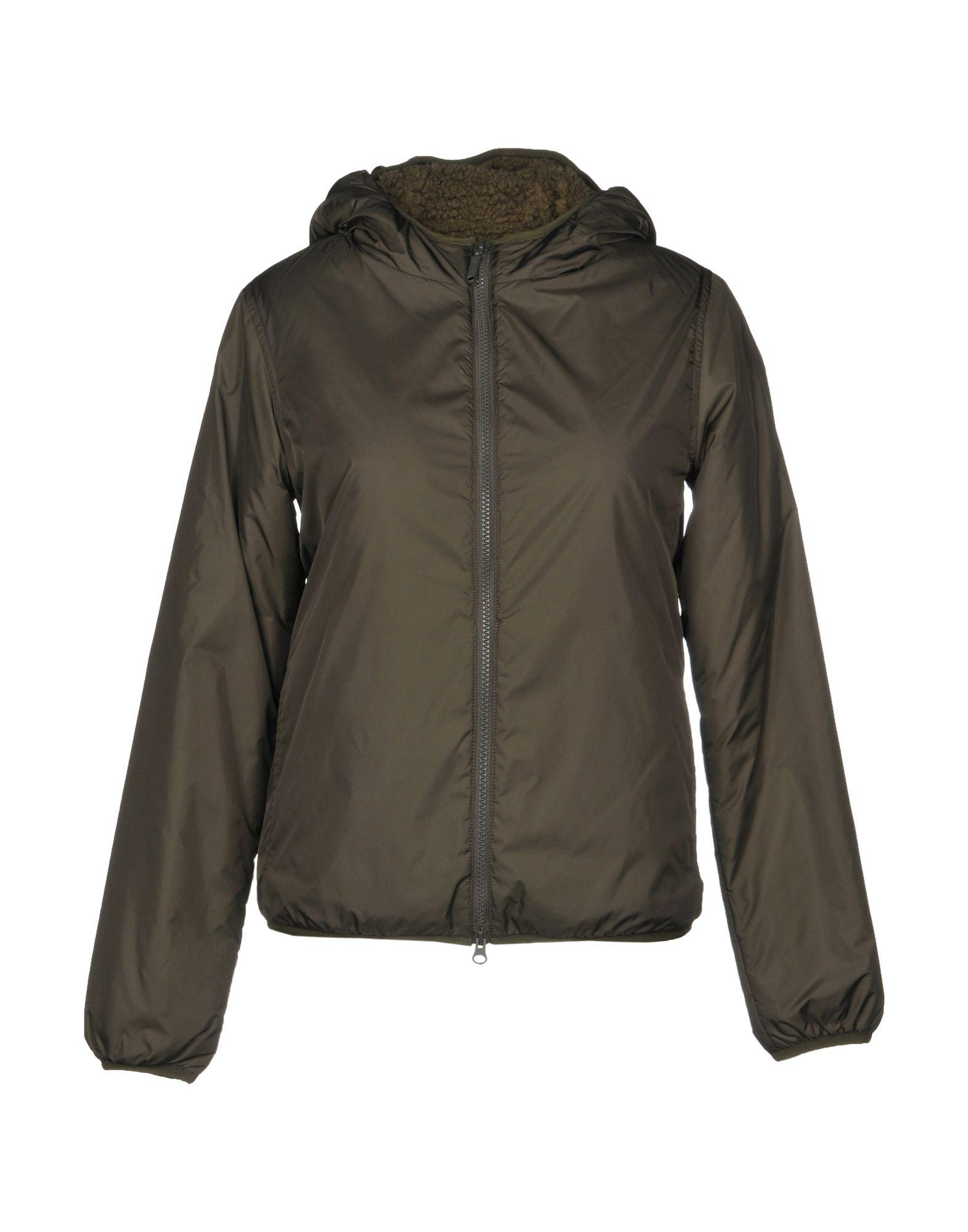 Aspesi Synthetic Down Jackets In Military Green