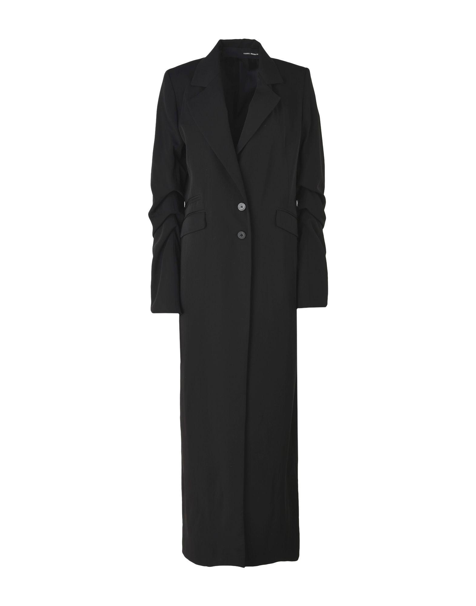 Isabel Benenato Overcoats In Black