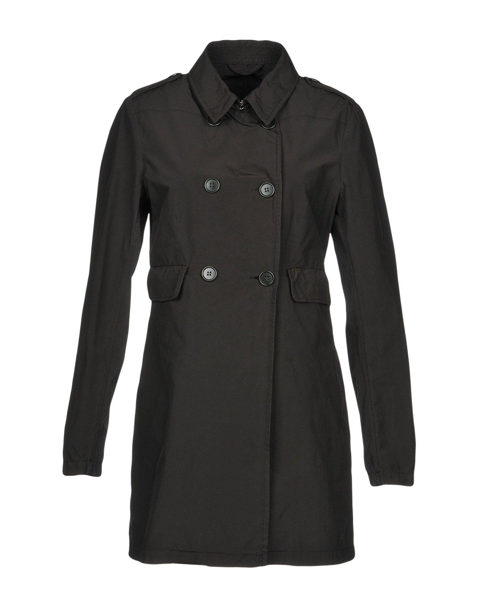 Aspesi Double Breasted Pea Coat In Black