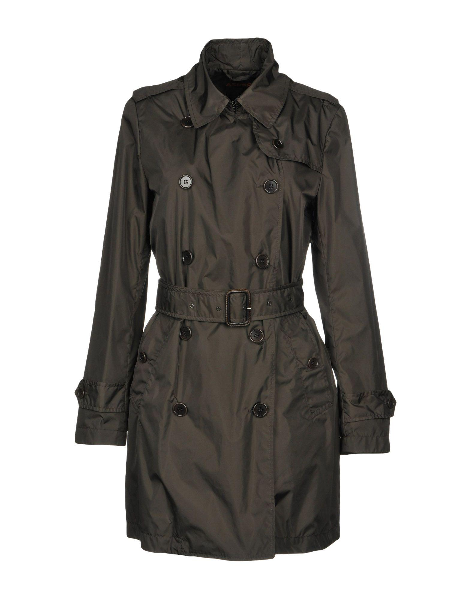 Aspesi Overcoats In Dark Green