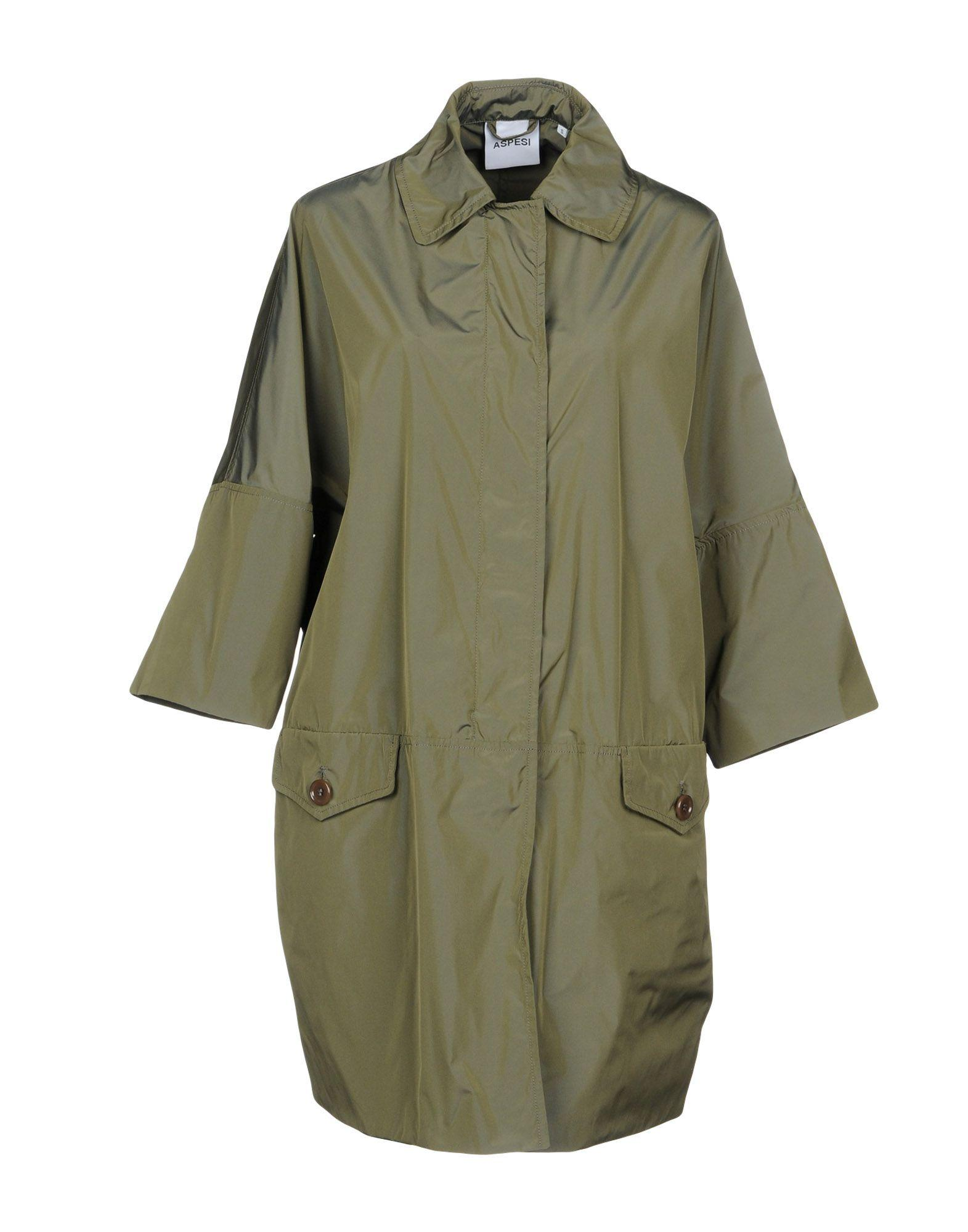 Aspesi Overcoats In Military Green