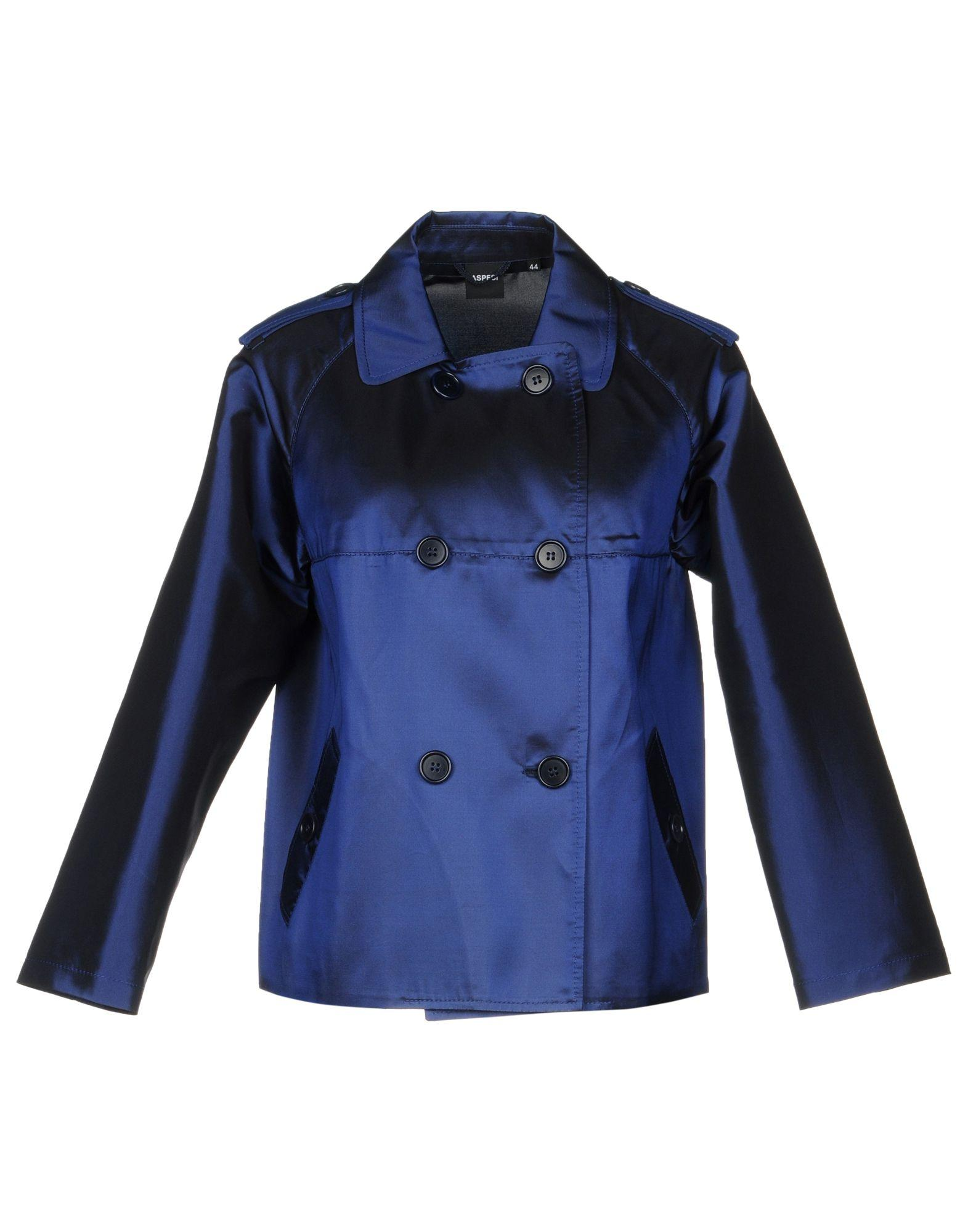 Aspesi Overcoats In Dark Blue