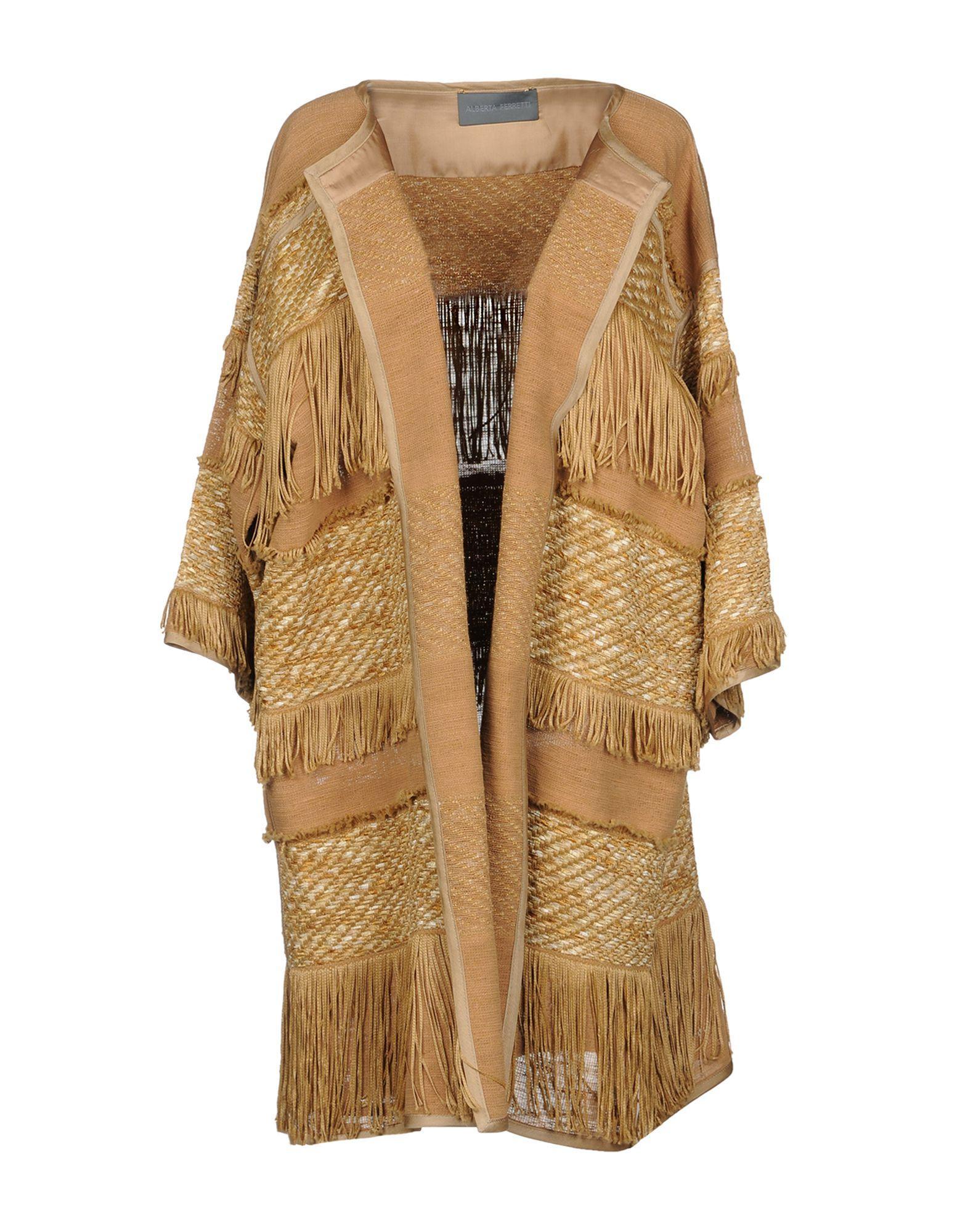 Alberta Ferretti Full-length Jacket In Camel