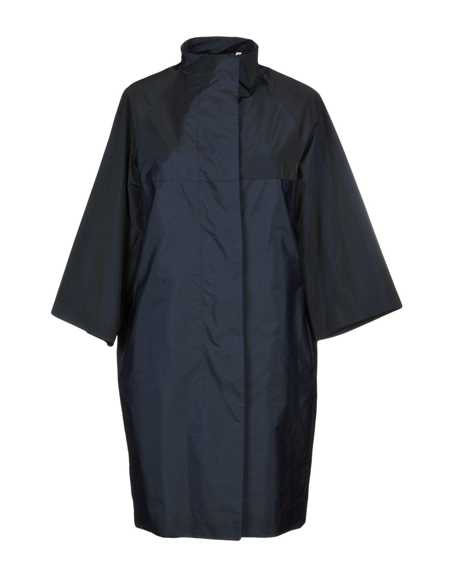 Aspesi Overcoats In Dark Blue