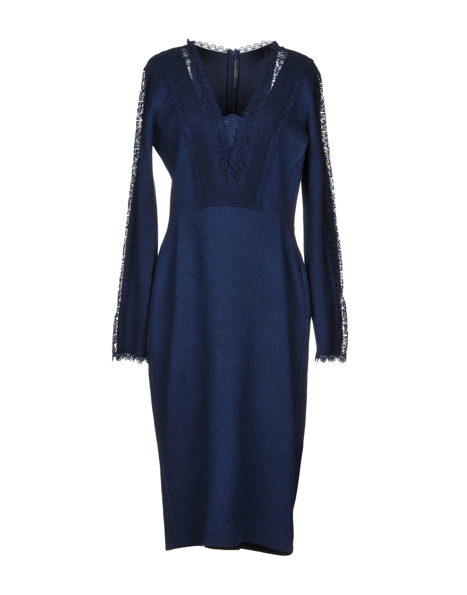Ermanno Scervino Midi Dress In Dark Blue