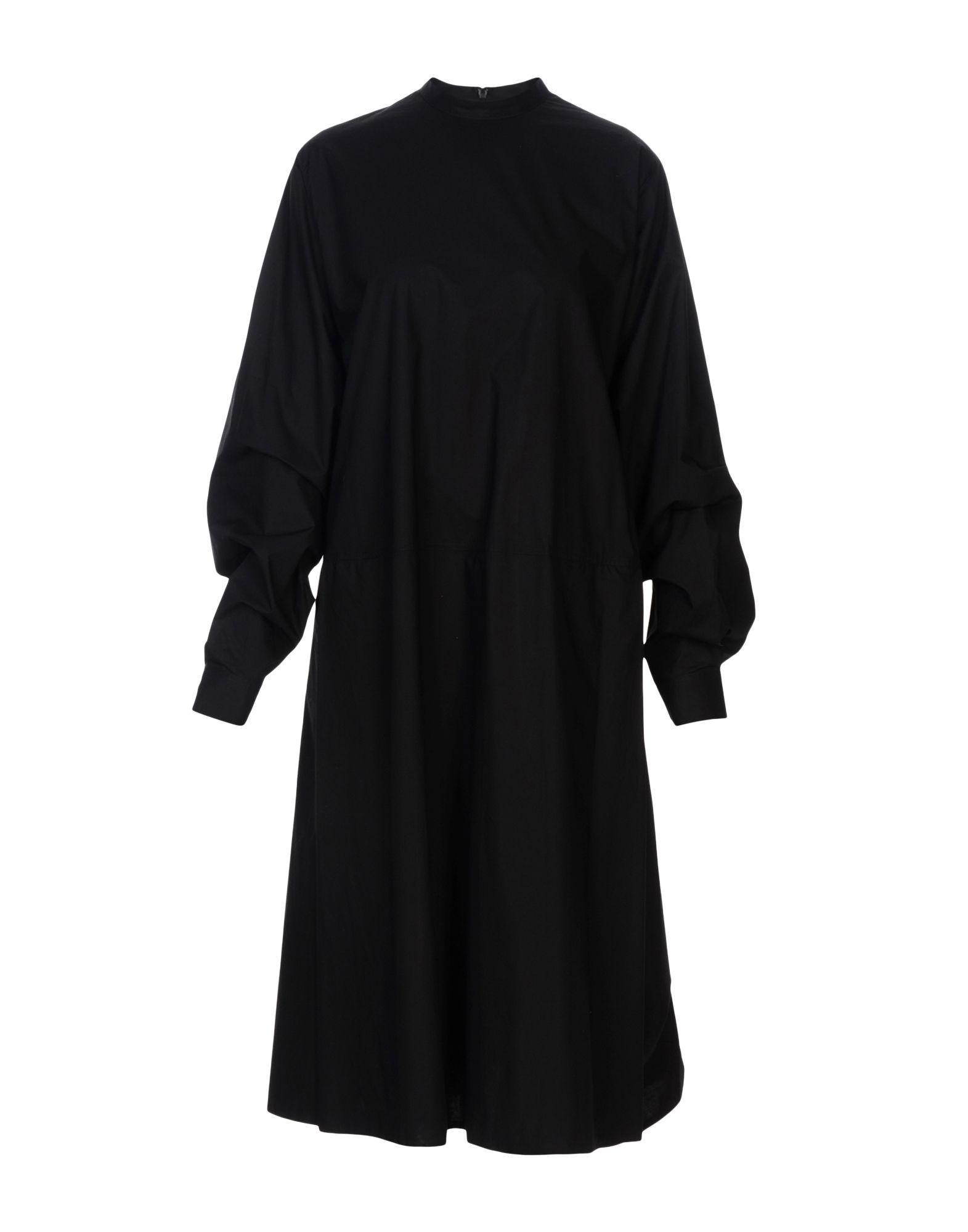 Mm6 Maison Margiela Midi Dress In Black