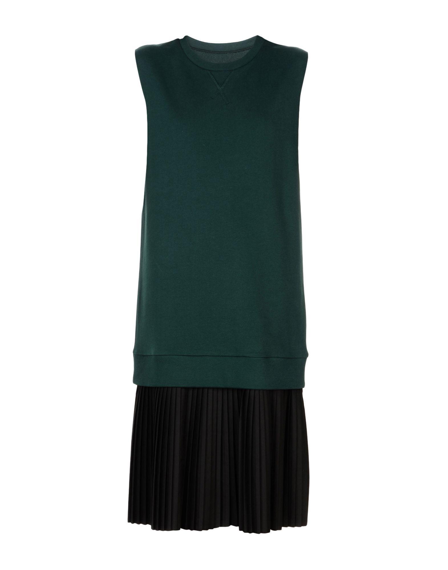 Mm6 Maison Margiela Midi Dress In Dark Green