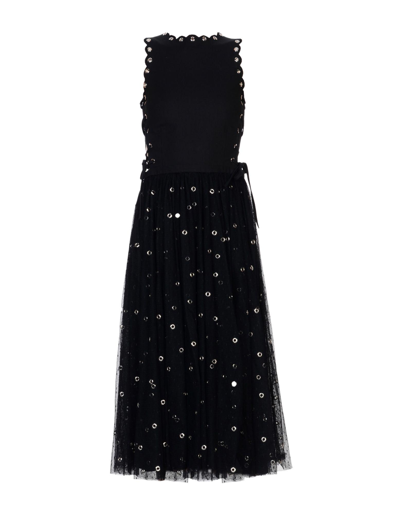 Red Valentino 3/4 Length Dresses In Black