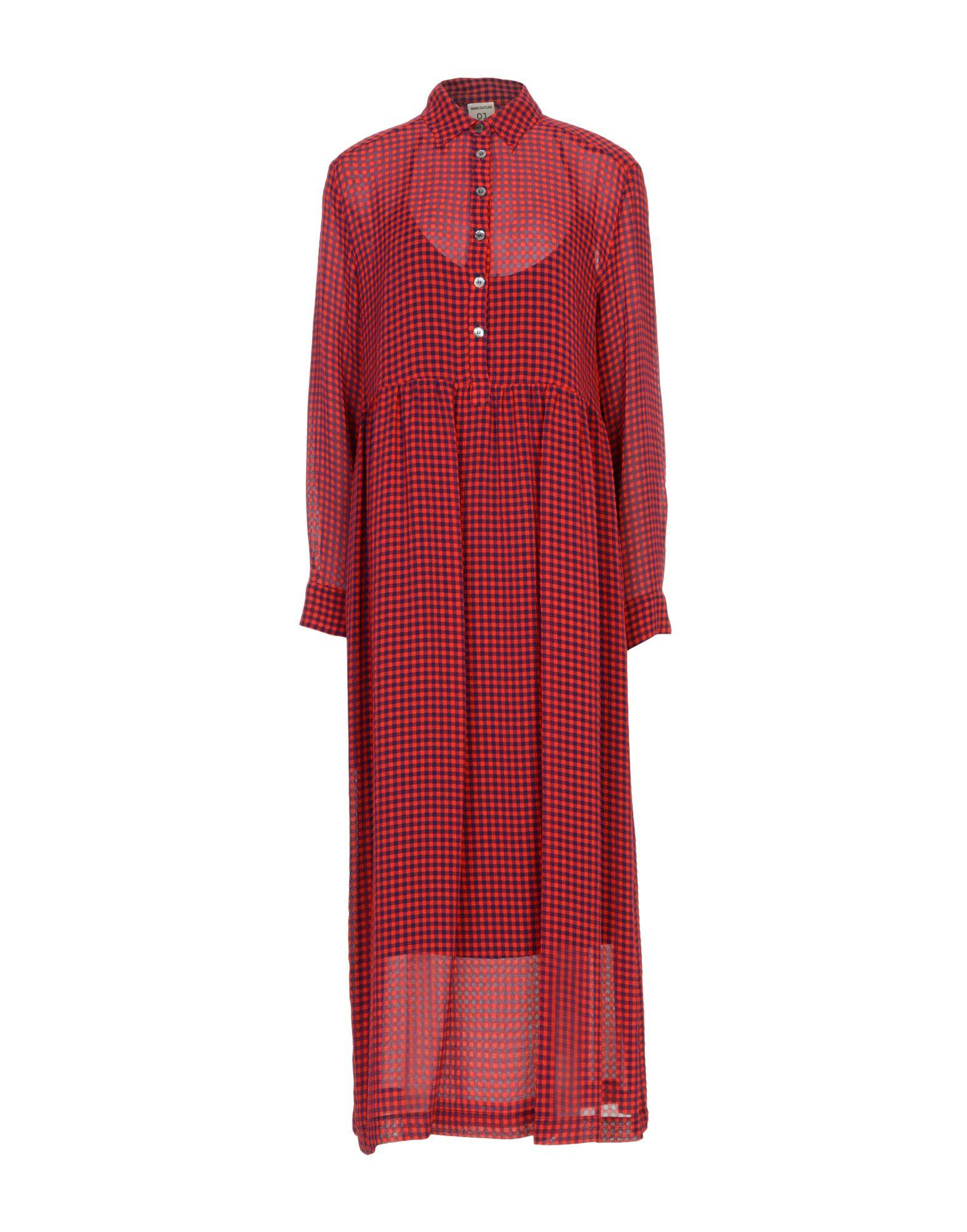 Semicouture Midi Dress In Red