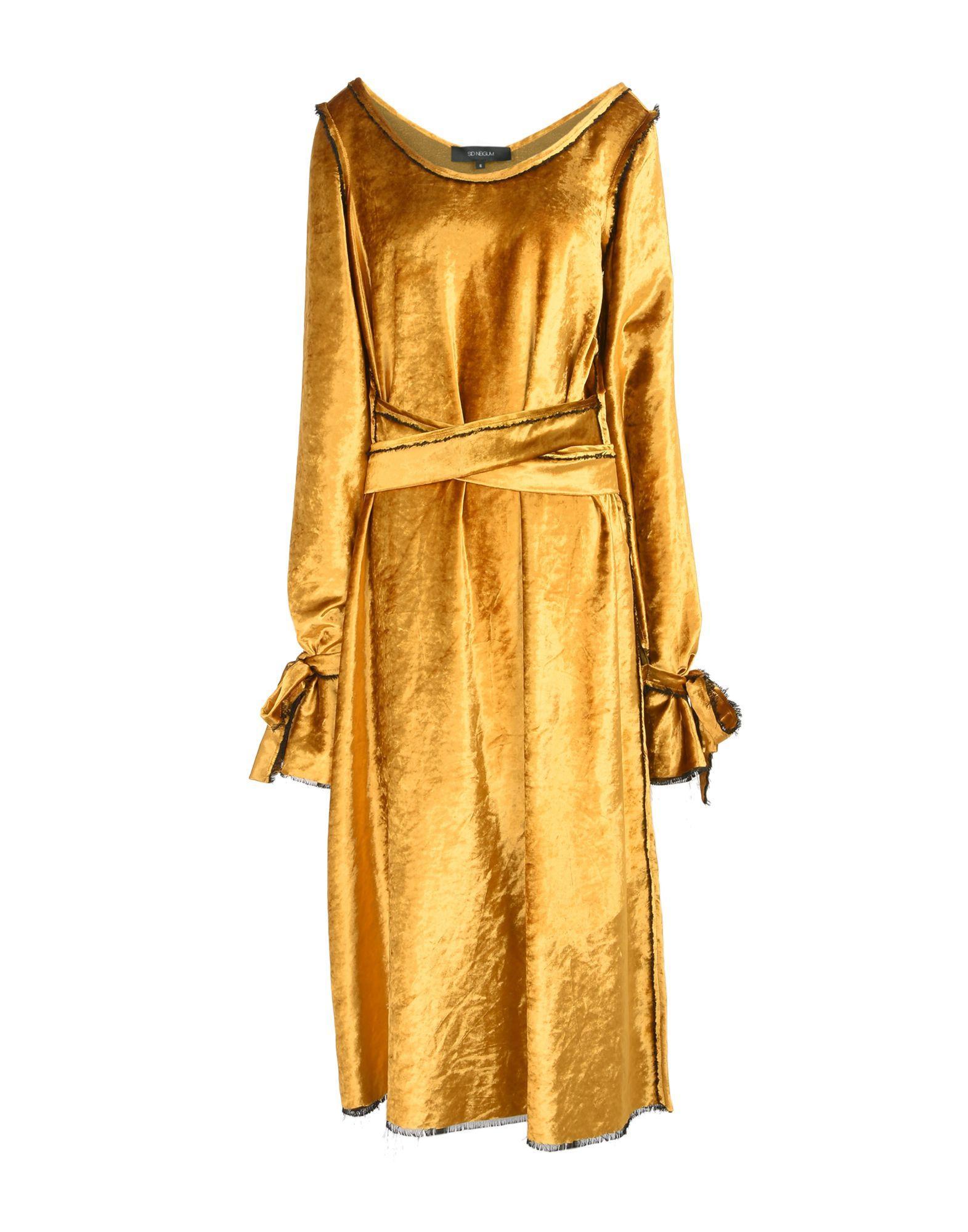 Sid Neigum Midi Dress In Ocher