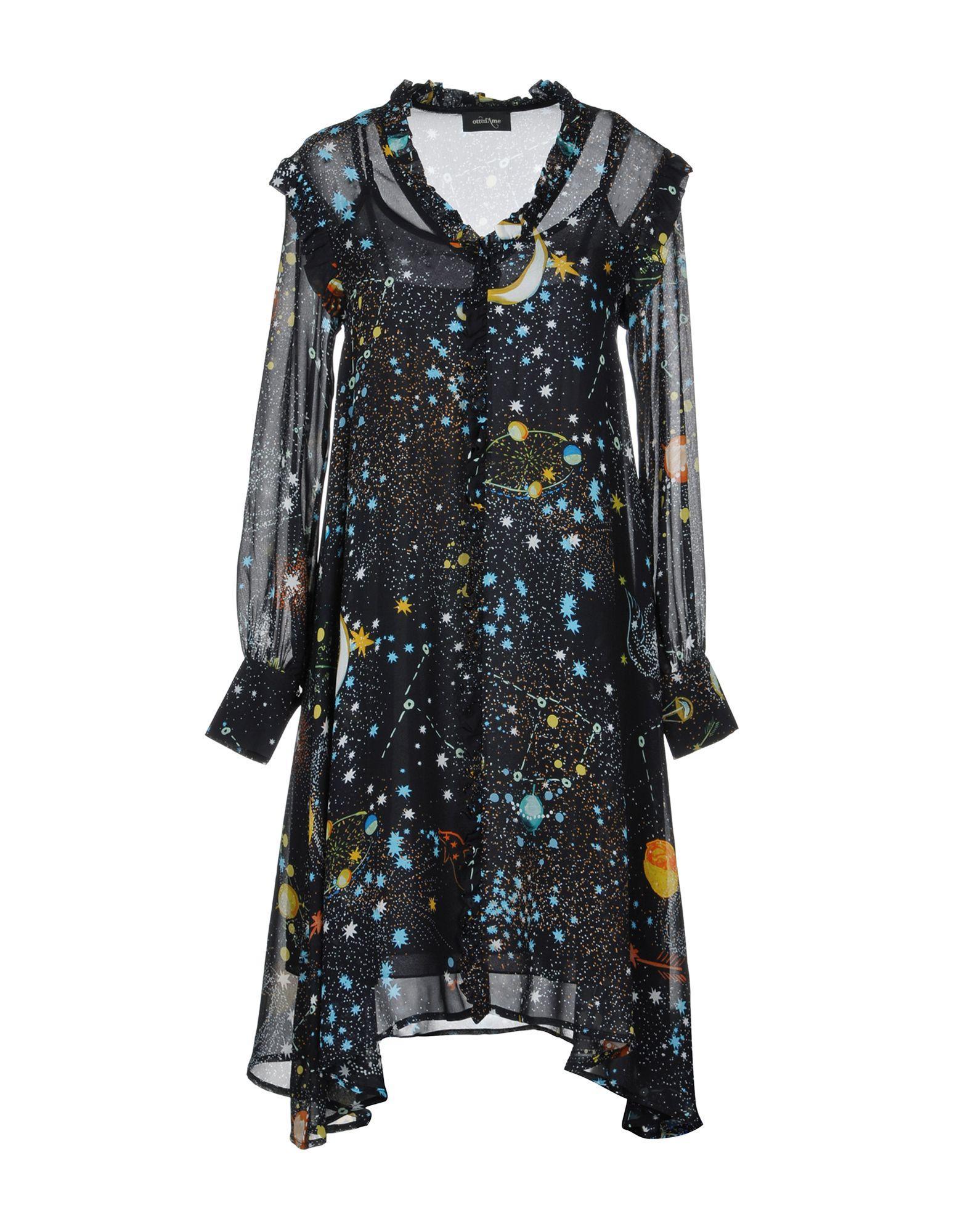 Ottod'ame Knee-length Dress In Dark Blue