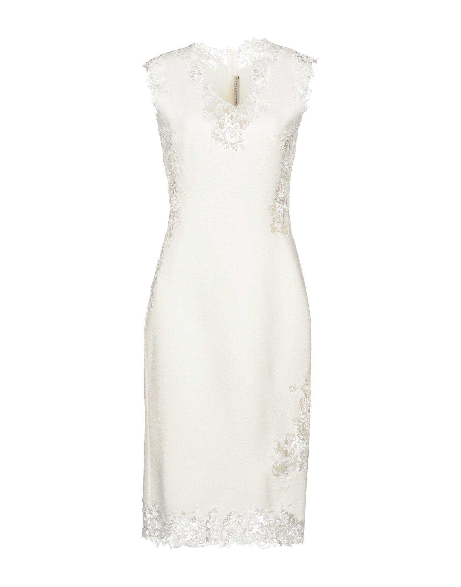 Ermanno Scervino Knee-length Dress In Ivory