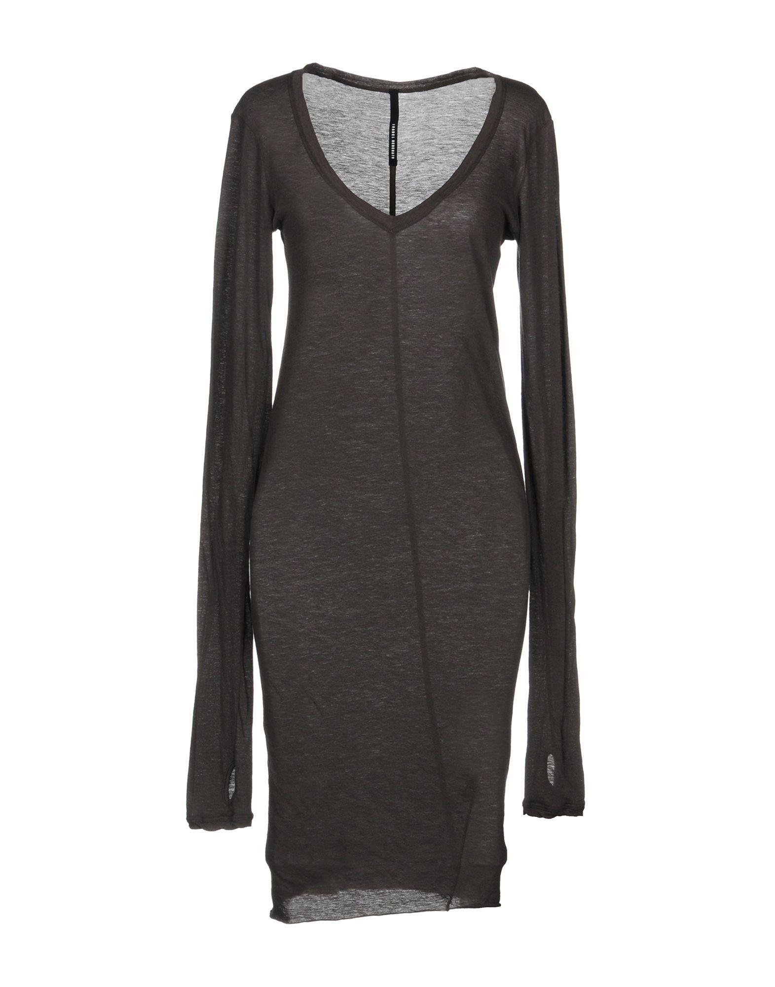 Isabel Benenato Knee-length Dress In Steel Grey