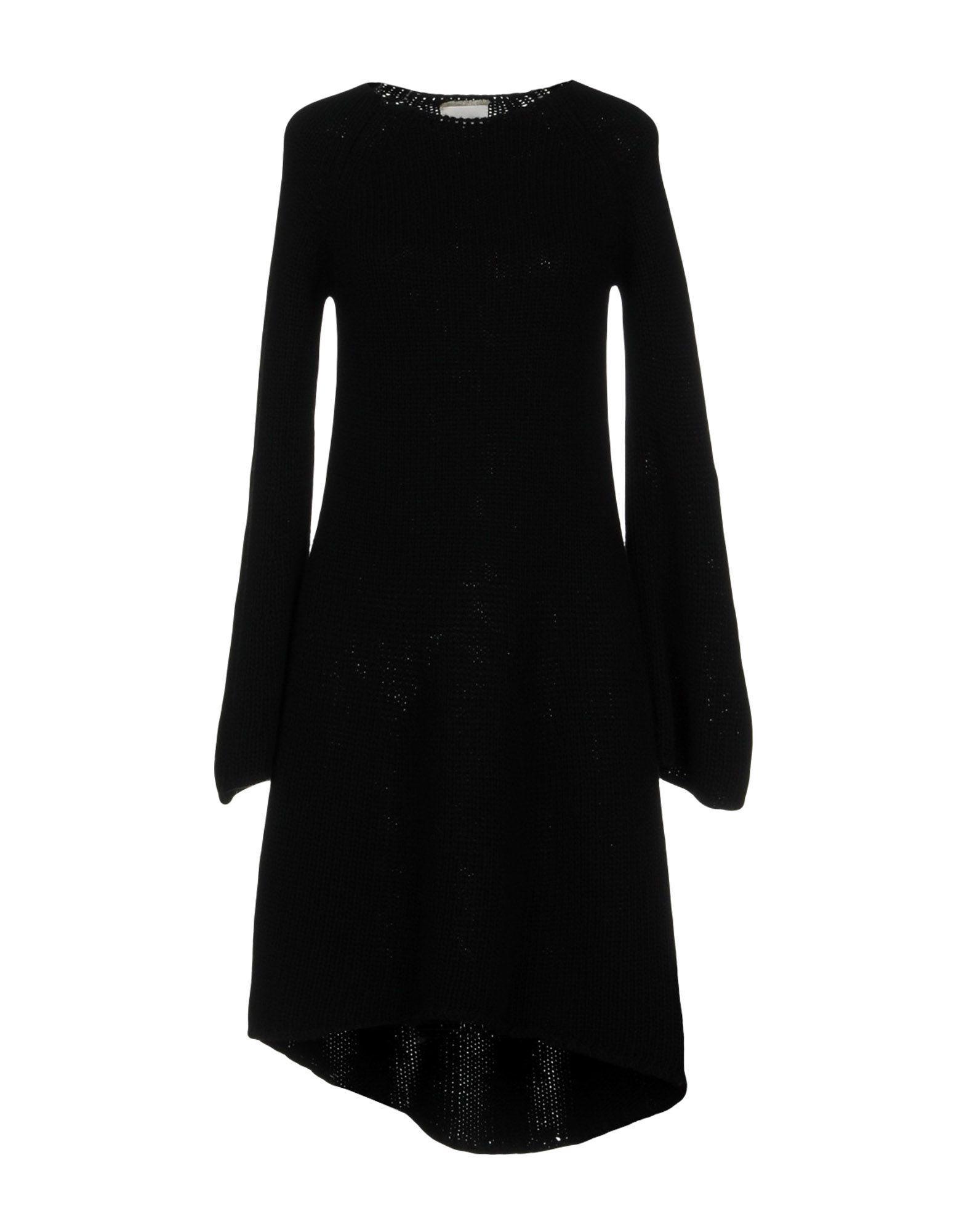Fine Edge Knee-length Dress In Black