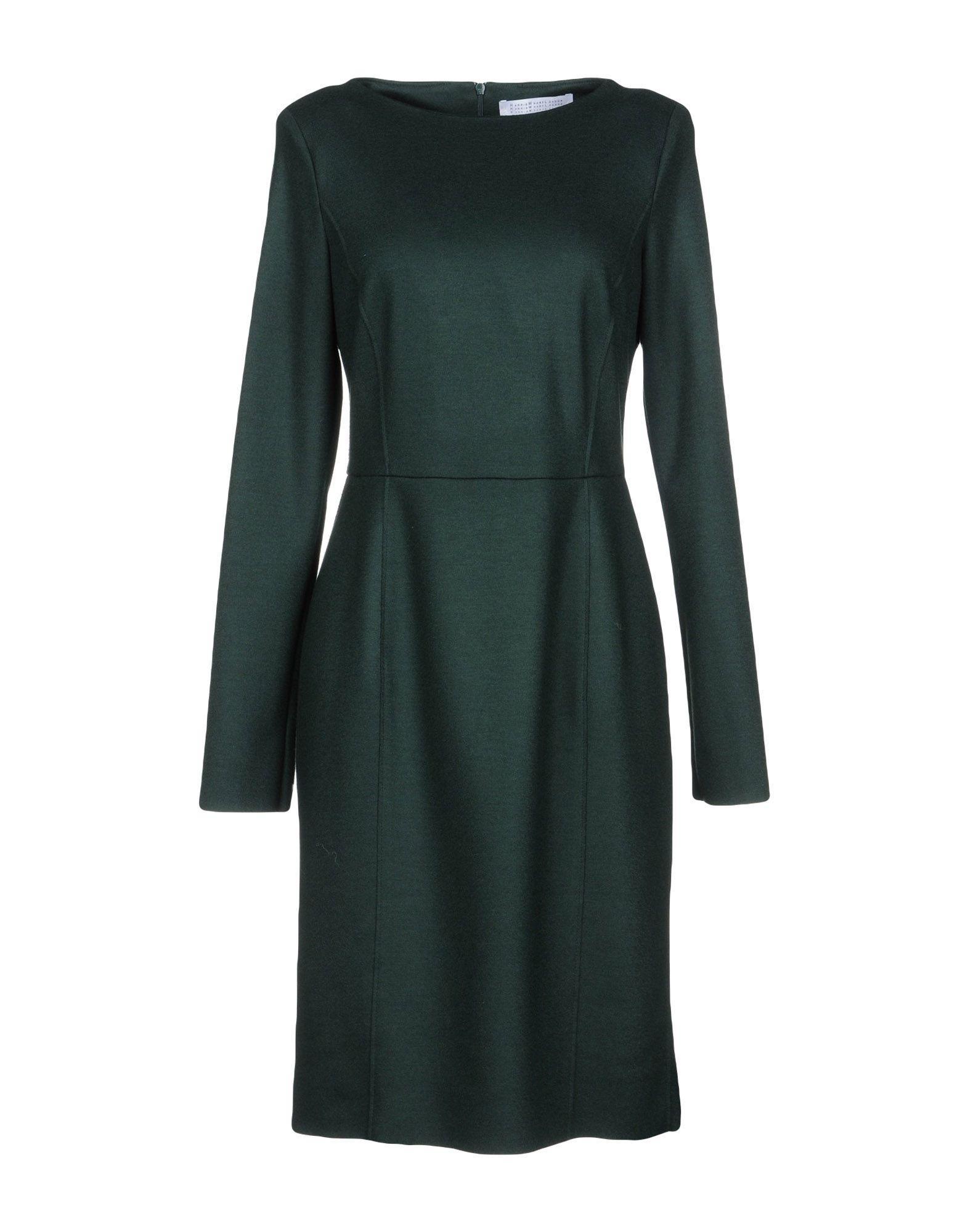 Harris Wharf London Knee-length Dress In Dark Green