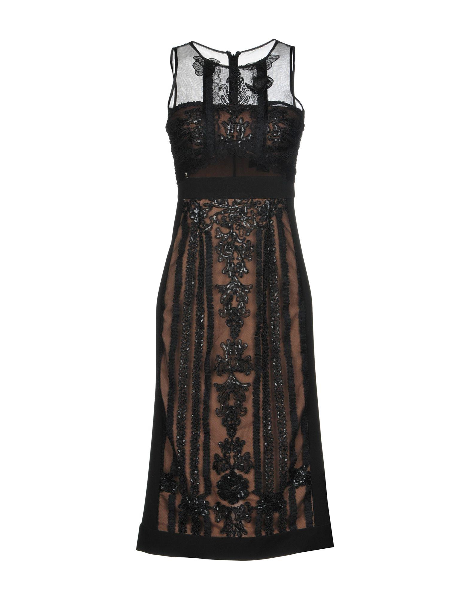 Marchesa Notte Knee-length Dress In Black