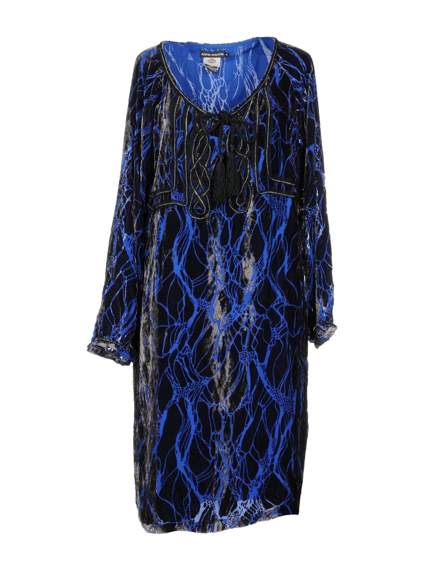 Antik Batik Knee-length Dress In Blue