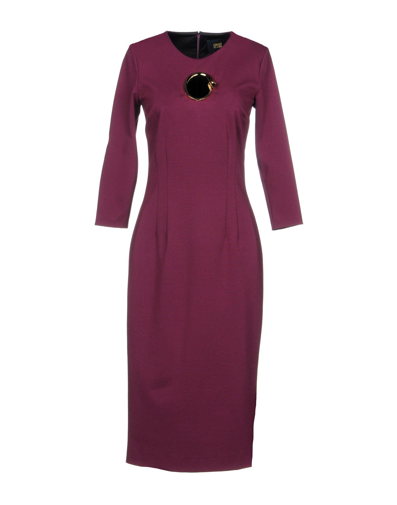 Class Roberto Cavalli Knee-length Dress In Garnet