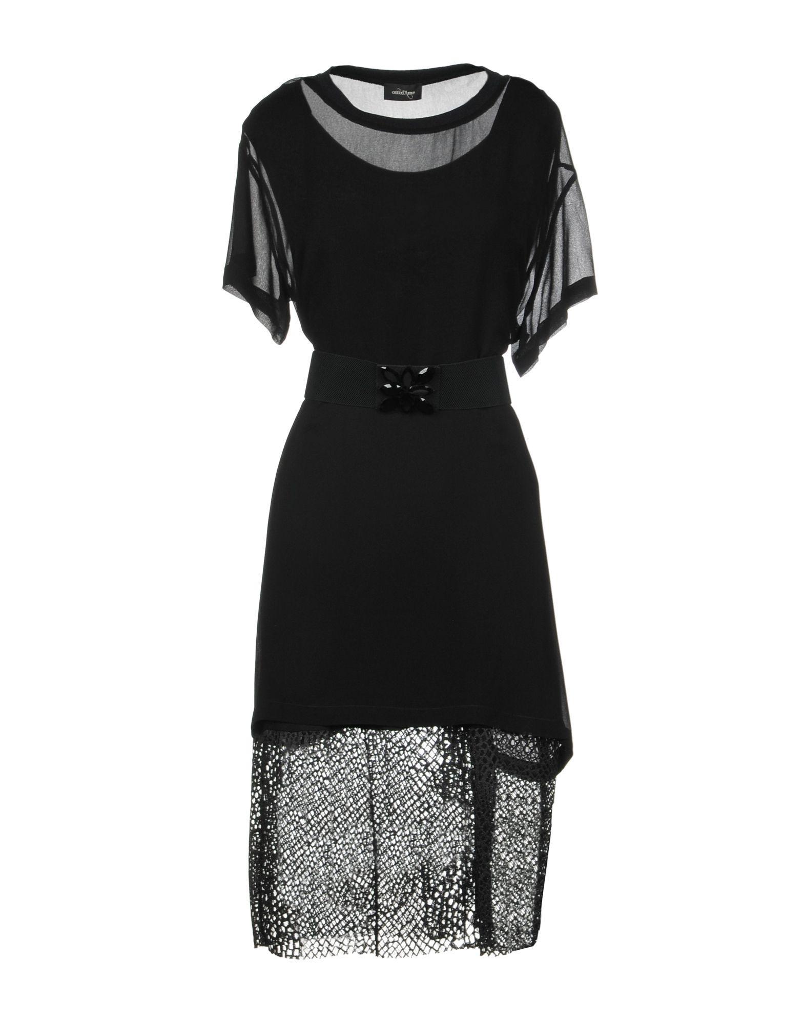 Ottod'ame Knee-length Dresses In Black