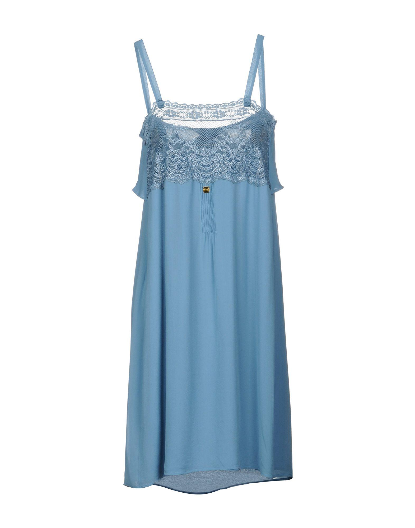Liu •jo Knee-length Dresses In Slate Blue