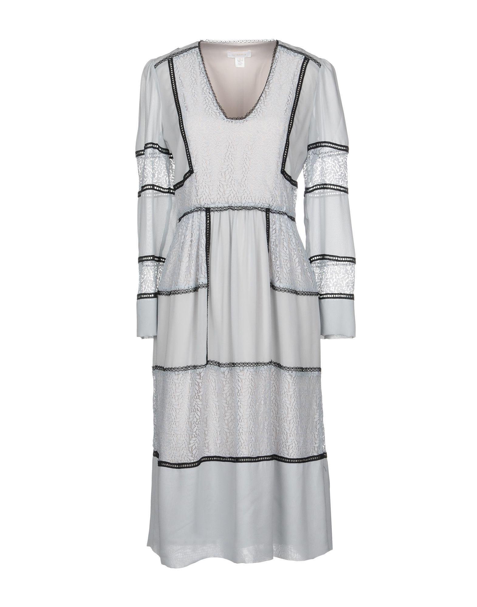 Intropia Knee-length Dress In Light Grey