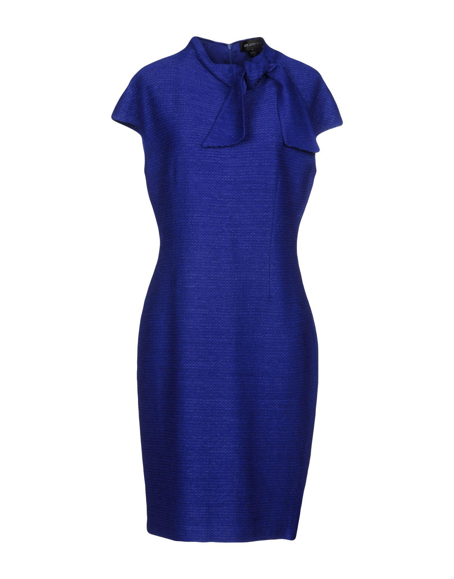 St. John Knee-length Dress In Blue