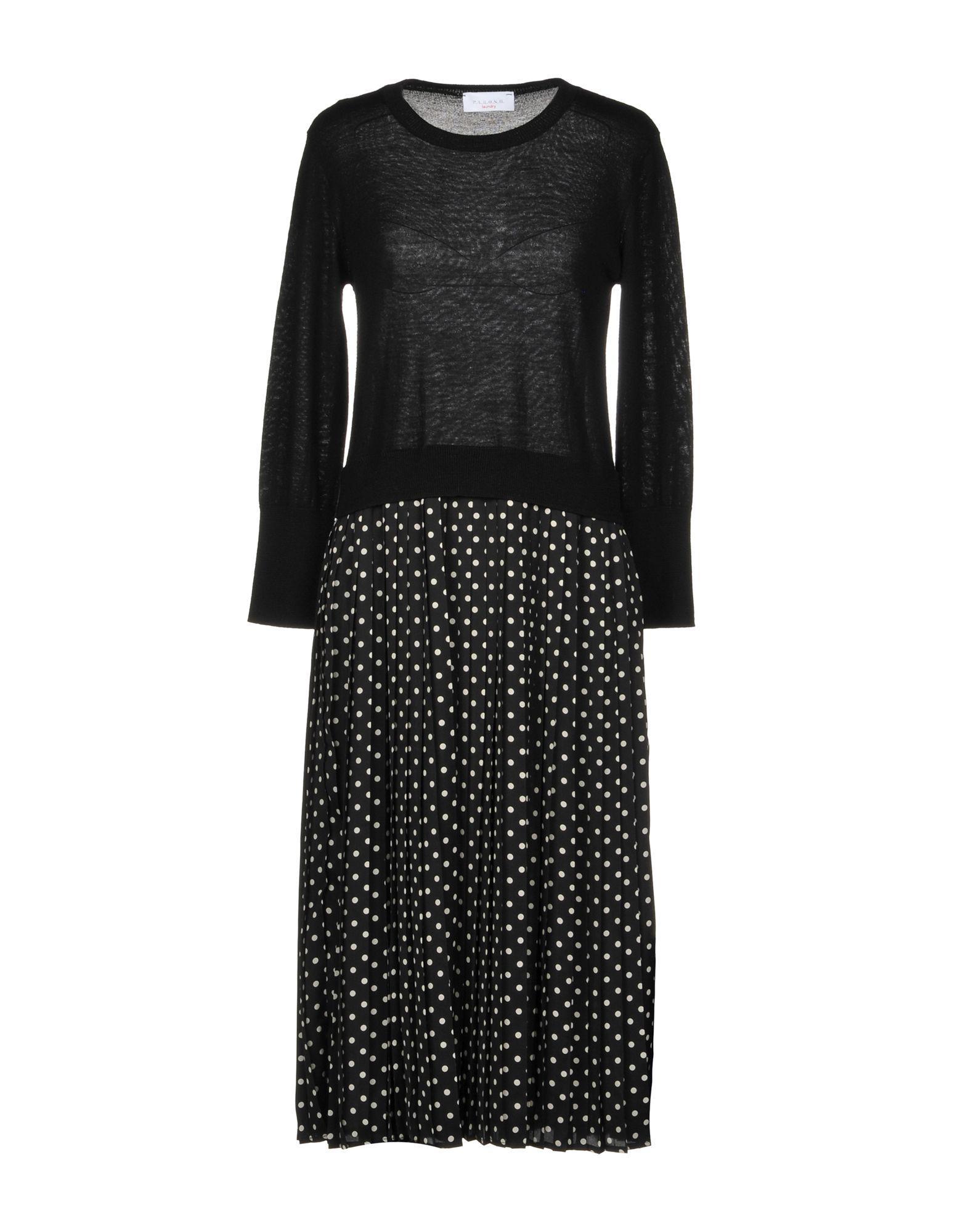 P.a.r.o.s.h. Knee-length Dress In Black