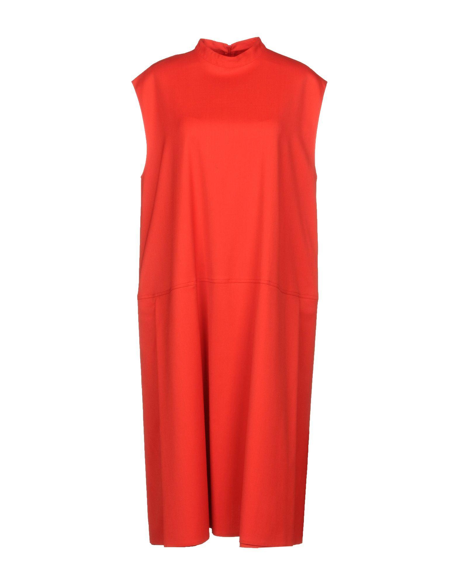 Mm6 Maison Margiela Knee-length Dress In Red