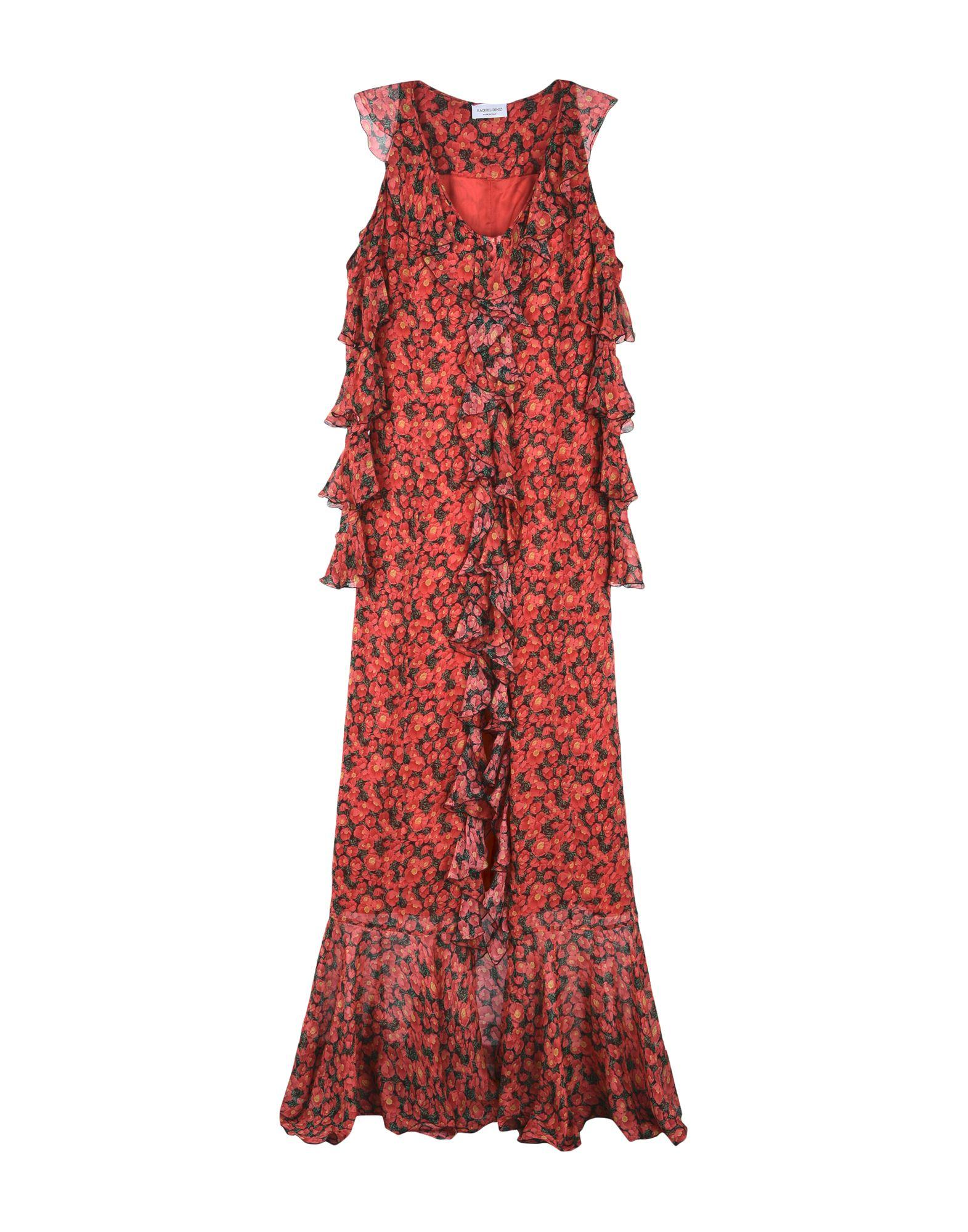 Raquel Diniz Long Dresses In Red
